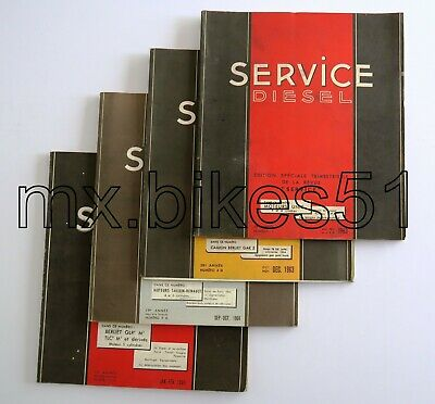 Lot de 4 revues Technique Automobile Service Diésel  1963/1964/1965