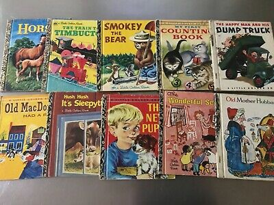 bulk vintage Collectable rare 60's and 70's little golden books