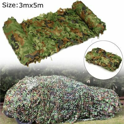 Woodland Camouflage Netting Military Army Camo Hunting Shooting Hide Cover
