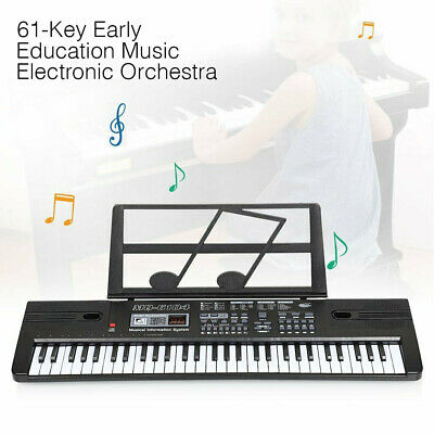 61 Key Electric Digital Piano Organ Musical Beginner Electronic Keyboard White&
