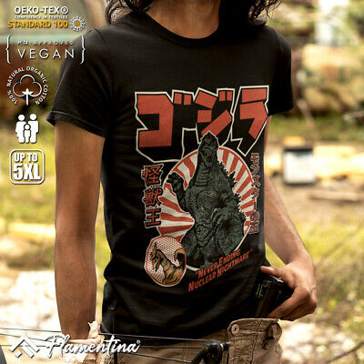 Mens T-Shirt King Of Kaiju Horror Monster Japanese Nuclear Nightmare Movie Old