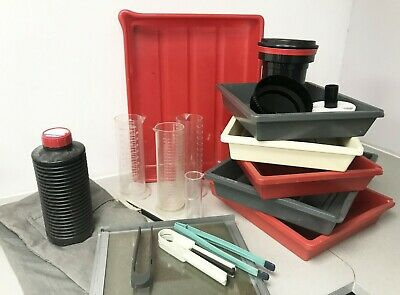 JobLot Photax Paterson Jobo Darkroom Tongs, Tank  Graduate Trays Chem Containers