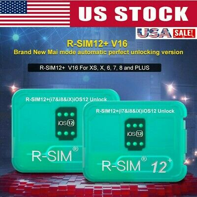 R-SIM12+ V16 NEW Nano Unlock Card RSIM for Phone XS/8/7/6 Plus 4G iOS 12.2 Lot