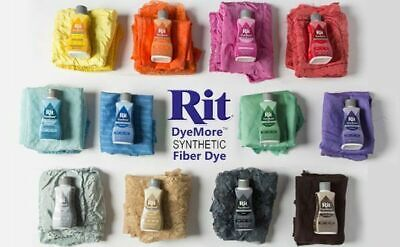 Rit DyeMore for Synthetic Fabrics Fibres Liquid Dye polyester acrylic