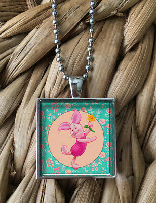 Piglet Dancing Winnie the Pooh Character Cute Gift Pendant Silver Necklace NEW