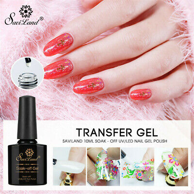 Star Nail Glue Transfer Paper UV Gel Starry Sticker Adhesive Nail Art Decal