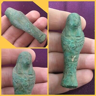 Very rare ancient Egyptian shabti blue , 300 bc