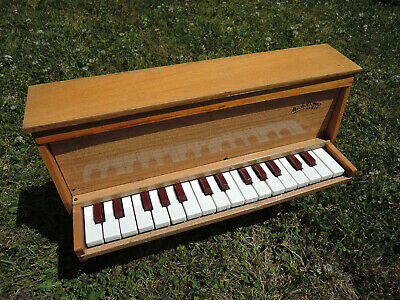 ☆ RARE TOY PIANO JOUET MUSICAL MICHELSONNE PARIS 30 touches see VIDEO  ☆