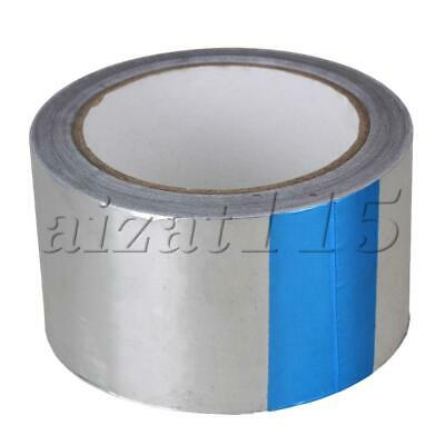 20m*60mm Silver Aluminum Foil Tape Rolls Malleable Self Adhesive