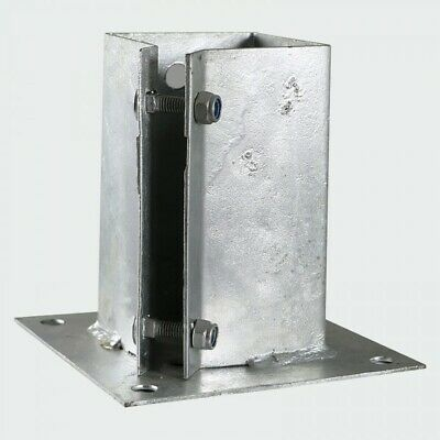"GALVANISED HEAVY DUTY BOLT DOWN Fence Post Holder  | 3"" / 4"" / 6"" 75 100 150 mm"
