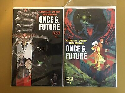 2x Once and Future #1 Regular Cover + Comic Hub Variant NM Boom 2019 1st Print