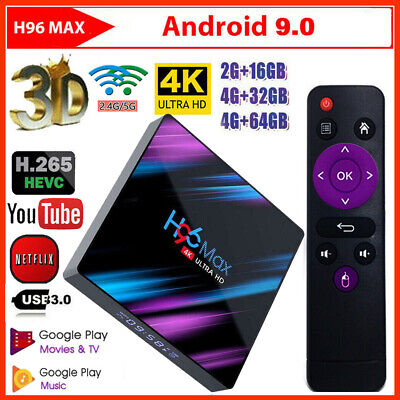 H96 Max RK3318 Android 9.0 32GB 64GB Quad Core 4K Media Player WiFi Smart TV BOX