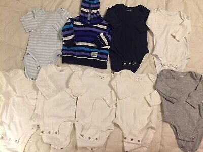 Lot Of 9 Baby Boy Carter's Snap Shirts Size 3 Months