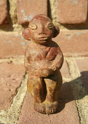 Pre-Columbian Temple Fragment Terracotta Monkey Zoomorphic Ancient Pottery NICE!