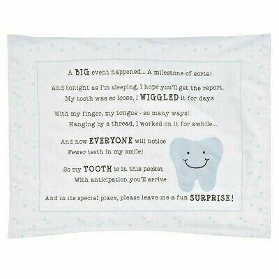 Mud Pie Tooth Fairy Pillow Case for a boy