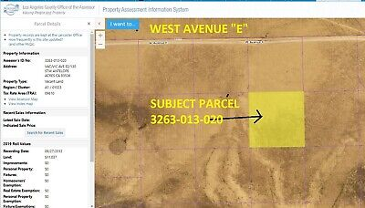 2.50 Acre West Of Lancaster, Los Angeles County, So. California