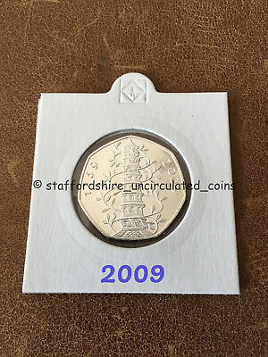 2009 Kew Gardens 50p Coin Uncirculated Very Rare (See Details) *Quick Auction*