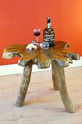 Root Wood Side Table Tree Pane Wood Root Table round Coffee Table 45 x 50cm