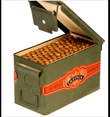 50 Cal Metal Cedar Lined Ammo Can Humidor 1-Pack