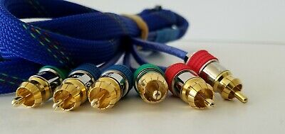 Pair ProFlex Audiophile RCA Interconnect High Performance Cables w Gold Ends 19/""