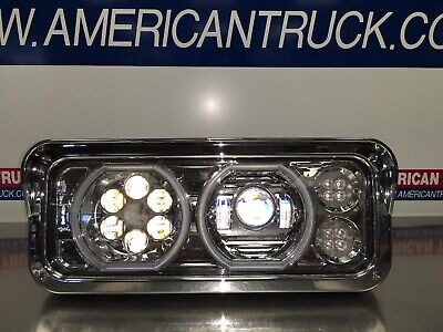 Trux Tled-H100 Driver Side Universal Led Projector Headlight Halo Drl