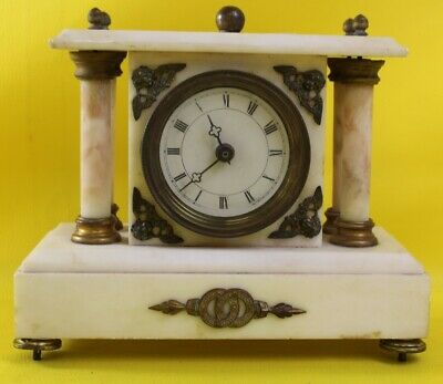 Large Marble Metamec Mantel Clock ##WIF42RG