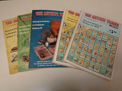The Antique Trader Weekly Annual Issues (5) 1972 1973 1974 1975 1976