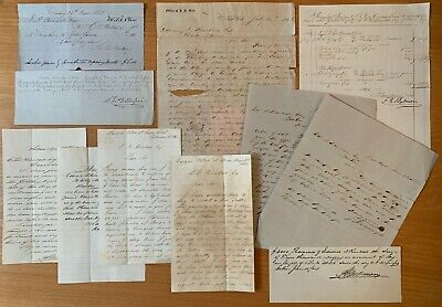 African Trade 1863 Ships Captain's Letters Ghana Africa Trade During Civil War