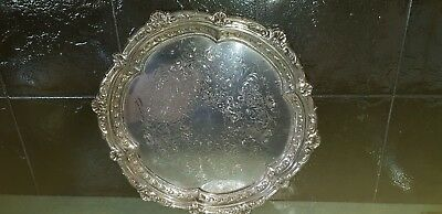 Ranleigh Quality Silverware Silver Plate Serving Tray  - Vintage