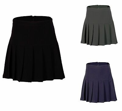 Girls All Around Pleated School Skirt Drop Waist Uniform Back Zip Fit Ages 2-16