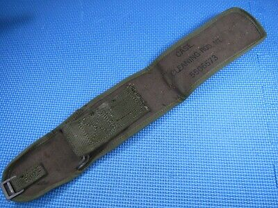 NOS Dated 1945 WWII WW2 US Army M1 Carbine / Garand Canvas Cleaning Rod Kit Case