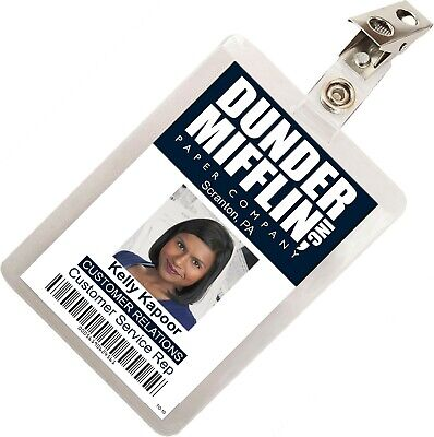 The Office Kelly Kapoor Mifflin ID Badge Cosplay Costume Name Tag TO-10