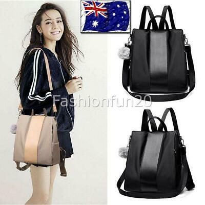 Women Anti-theft Waterproof Backpack Travel Rucksack Shoulder Tote Bags 3Color