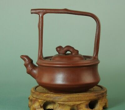 china Collection Handmade bamboo statue yixing Purple sand teapot Bb01A