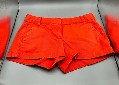 Gently Used J.Crew Womens Orange Chino Shorts - size 0 FAST FREE SHIPPING!