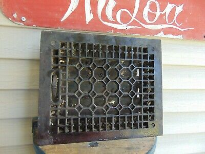 vintage /  antique  cast iron floor grate #   7633