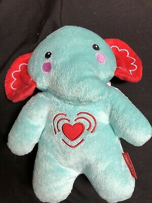 "Fisher Price Blue Elephant Calming Musical Vibrating Baby Soother 11"" Plush Toy"