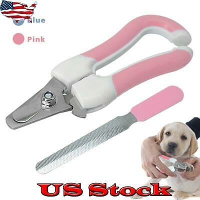 US Pet Dog Cat Nail Clippers Claw Toe Paw Trimmer Scissor Grooming Tools Newly