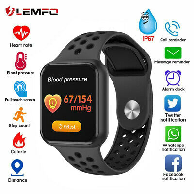 LEMFO Smart Watch Band Blood Pressure Heart Rate Fitness Tracker For iOS Android