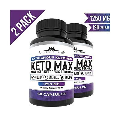 Keto Pills - (2 Pack | 120 Capsules) Advanced Keto Burn Diet Pills With MCT O...