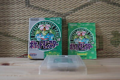 Pocket Monster Green w/box manual Japan Nintendo Gameboy GB VG-!