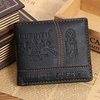 Men's Leather Bifold Wallet Credit/ID Card Receipt Holder Coin Money Purse Gifts