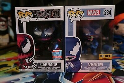 Funko Pops Hot Topic Exclusive Venom and Carnage