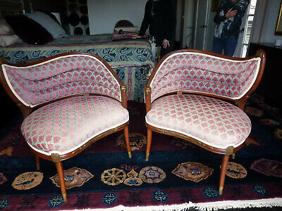 Pair of Vintage Parisian Boudoir Chairs