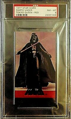 1977 Topps Star Wars Tokyo Queen Red Darth Vader 8 NM-MT