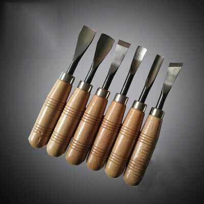 6x Professional Woodworking Chisel Wood Handle Carving Hand Chisel Tools DIY
