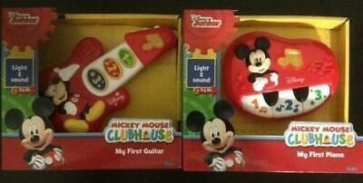 NEW Disney Mickey Mouse Clubhouse My First Guitar + Piano 12 Months + Baby Toys