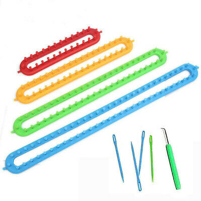 4 Sizes ABS Plastic Loom For Scarf Shawl Hat Socks Long Knit Knitter Knitting AU