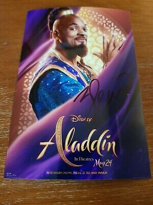 Rare Will Smith Autographed Aladdin Photo.