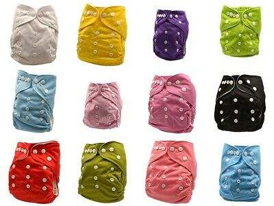 Reusable Pocket Minky Cloth Nappies Diapers Free Inserts Bulk Nappy Diaper MCN